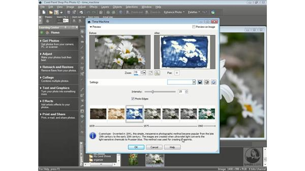 Using the Time Machine: Getting Started with Corel Paint Shop Pro Photo X2