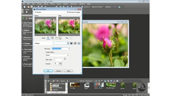Using film and filter effects: Getting Started with Corel Paint Shop Pro Photo X2