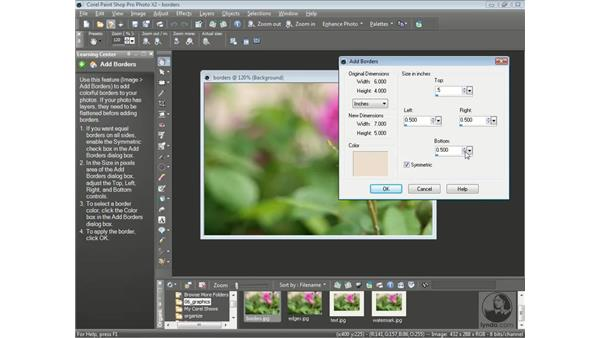 Adding borders to a photo: Getting Started with Corel Paint Shop Pro Photo X2