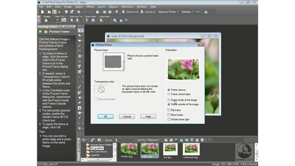 Creating picture frames: Getting Started with Corel Paint Shop Pro Photo X2
