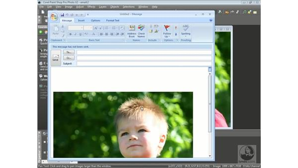 Sending photos by email: Getting Started with Corel Paint Shop Pro Photo X2