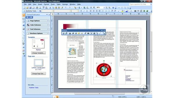 Deleting objects and frames: Publisher 2007 Essential Training