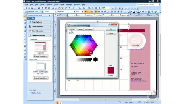 Working with fonts: Publisher 2007 Essential Training