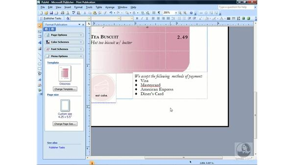 Paragraph and line spacing: Publisher 2007 Essential Training