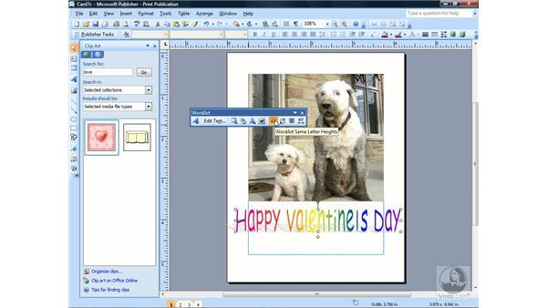 Using WordArt: Publisher 2007 Essential Training