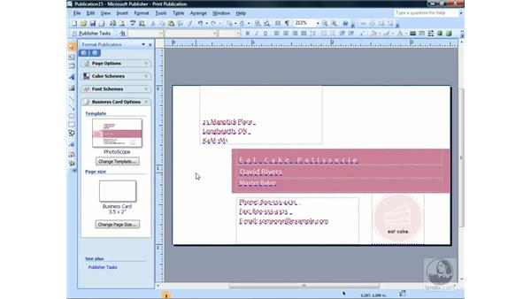 Creating your own templates: Publisher 2007 Essential Training