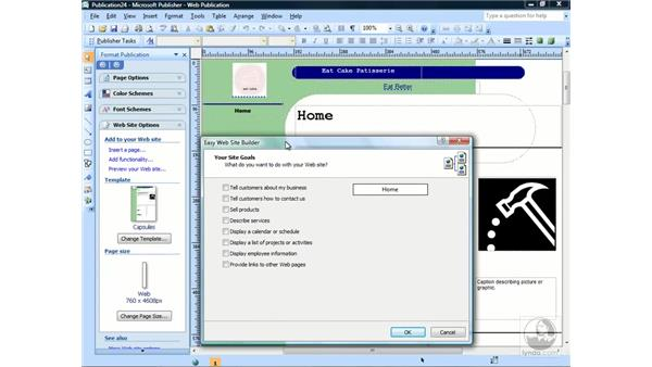 Creating a web page: Publisher 2007 Essential Training