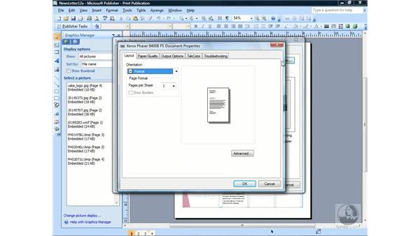 Saving your publication as a PostScript file: Publisher 2007 Essential Training