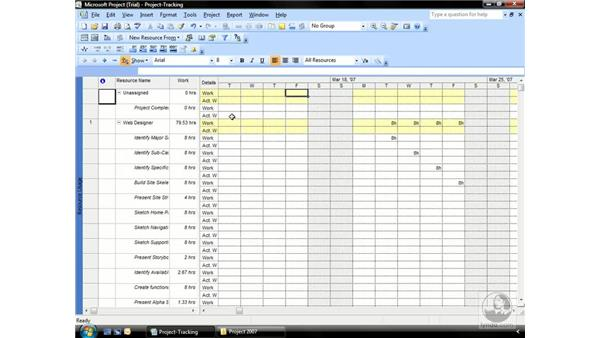 Using timephased fields: Project 2007 Essential Training