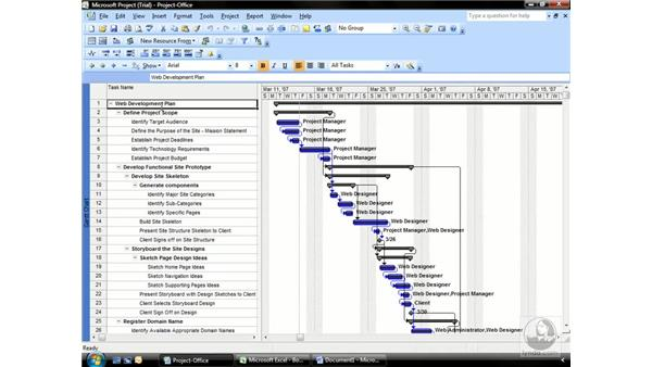 Copying project data into other applications: Project 2007 Essential Training