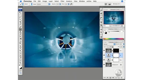 Color correction - Wind turbine: Photoshop CS3 Creative Photographic Techniques