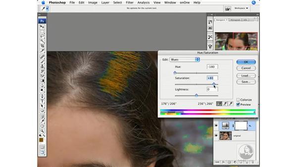 Removing reflective color: Photoshop CS3 Creative Photographic Techniques