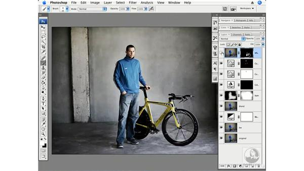 Pro athlete in a warehouse part 2 - Dodging and type: Photoshop CS3 Creative Photographic Techniques