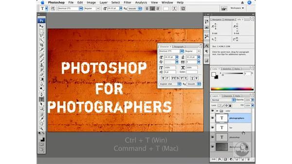 Edgy typography: Photoshop CS3 Creative Photographic Techniques