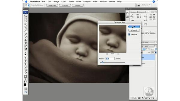 Lens soft focus - My Sophia: Photoshop CS3 Creative Photographic Techniques