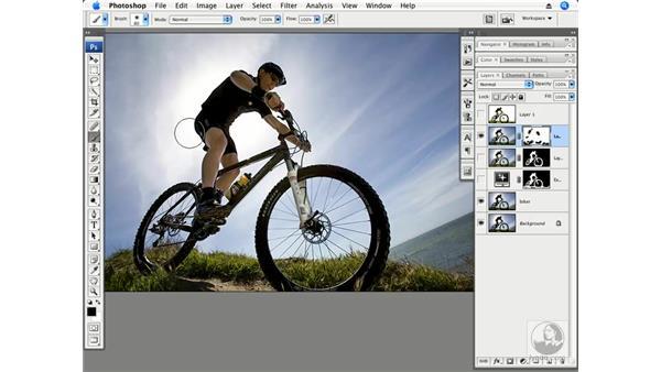 Adding light to a backlit subject part 2 - Masking: Photoshop CS3 Creative Photographic Techniques