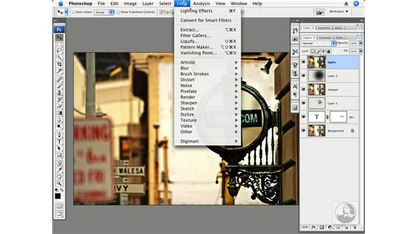 Adding directional light part 2 - San Francisco sign: Photoshop CS3 Creative Photographic Techniques