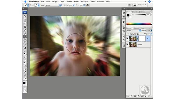 Radial motion blur: Photoshop CS3 Creative Photographic Techniques
