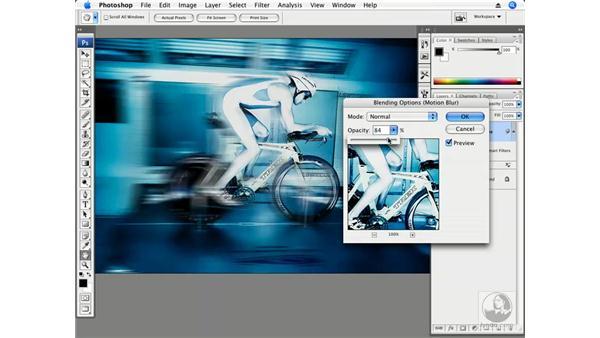 Extreme motion blur: Photoshop CS3 Creative Photographic Techniques