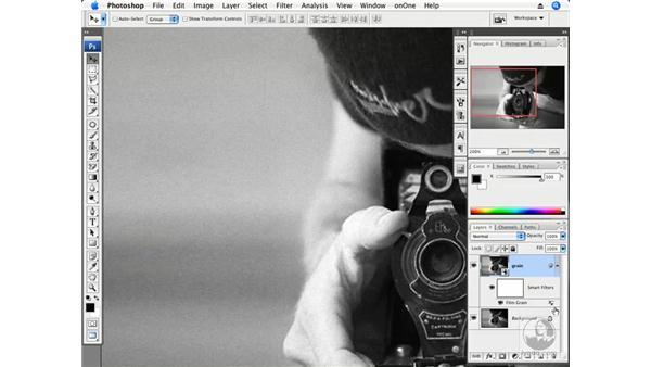 Adding grain with the Film Grain filter: Photoshop CS3 Creative Photographic Techniques
