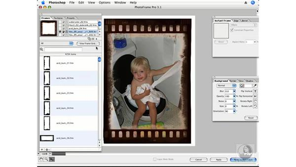 PhotoFrame plug-in part 1 - Introduction: Photoshop CS3 Creative Photographic Techniques
