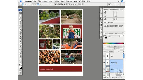 Apple picking part 2 - Arrange, crop, type: Photoshop CS3 Creative Photographic Techniques