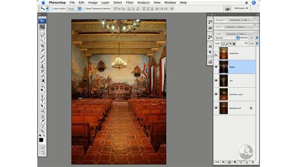 Architecture interior part 1 - Auto-Align: Photoshop CS3 Creative Photographic Techniques