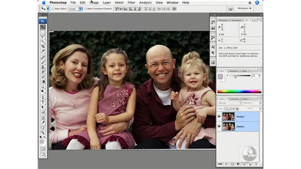 Family portrait - Auto-Align and blending multiple exposures: Photoshop CS3 Creative Photographic Techniques