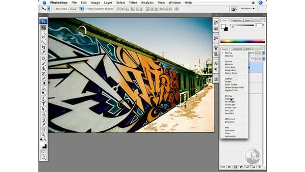Single plane - Adding graffiti: Photoshop CS3 Creative Photographic Techniques