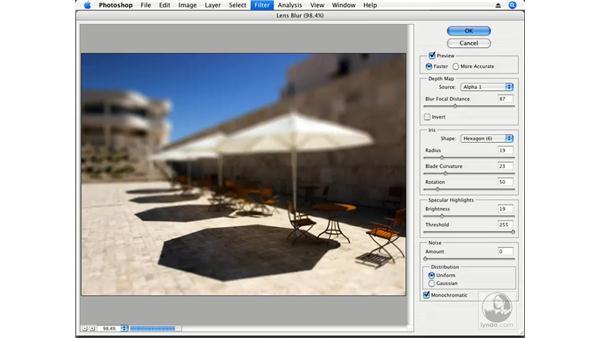 The Lens Blur effect in action: Photoshop CS3 Creative Photographic Techniques