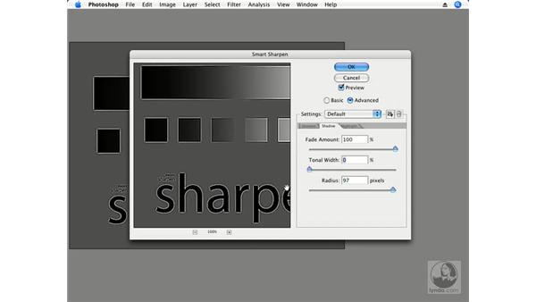 Advanced Smart Sharpen settings: Photoshop CS3 Creative Photographic Techniques