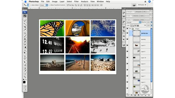 Building a grid-based promo card: Photoshop CS3 Creative Photographic Techniques