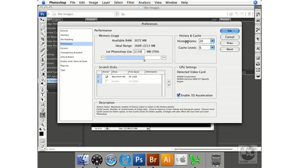 Memory and scratch disk preferences: Photoshop CS3 Prepress Essentials