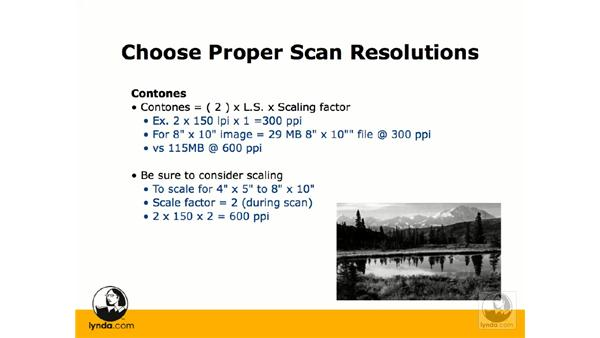 Resolution requirements for screening: Photoshop CS3 Prepress Essentials