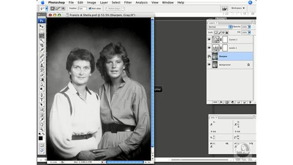 Sharpening grayscale images: Photoshop CS3 Prepress Essentials