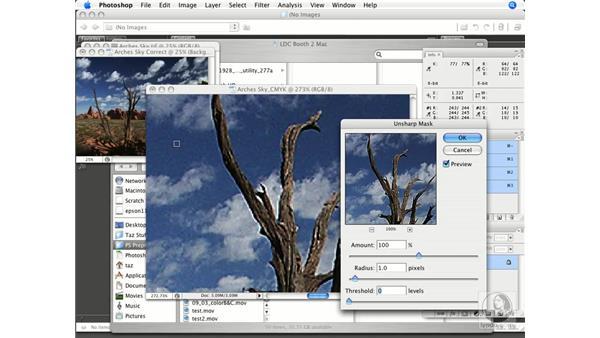 Sharpening color images: Photoshop CS3 Prepress Essentials