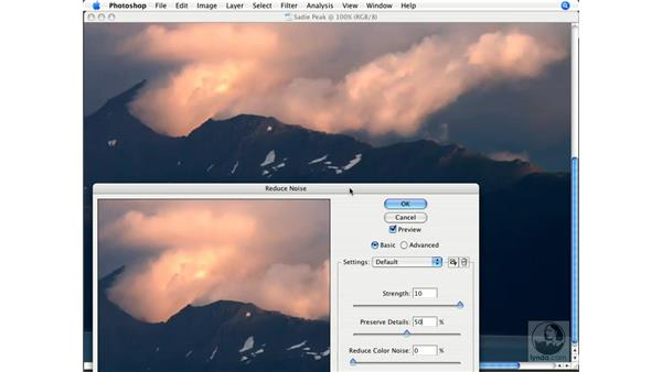 Noise image sharpening: Photoshop CS3 Prepress Essentials