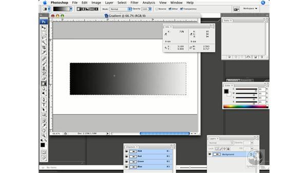 Creating gradients: Photoshop CS3 Prepress Essentials