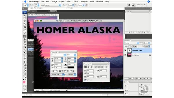 Adding type to images: Photoshop CS3 Prepress Essentials