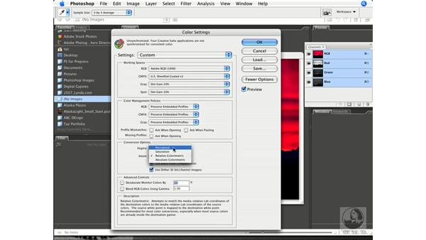 Converting RGB to CMYK with generic profiles: Photoshop CS3 Prepress Essentials