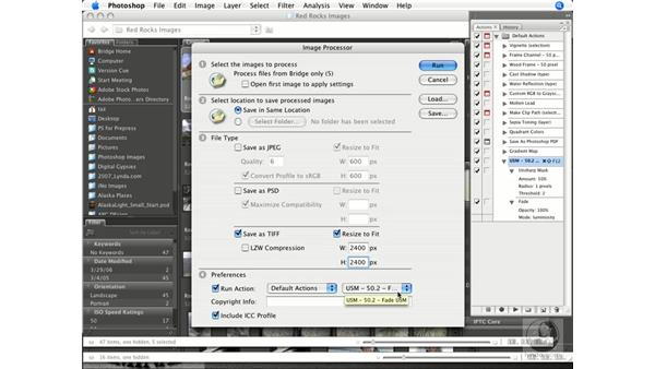 Combining the Image Processor and actions: Photoshop CS3 Prepress Essentials