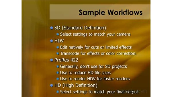 Sample workflows: Final Cut Pro 6 Essential Editing