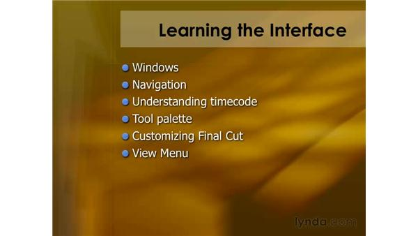 Learning the interface: Final Cut Pro 6 Essential Editing