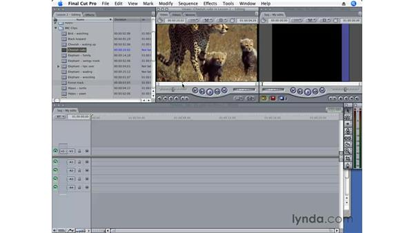Viewing and marking (in/out) a clip: Final Cut Pro 6 Essential Editing