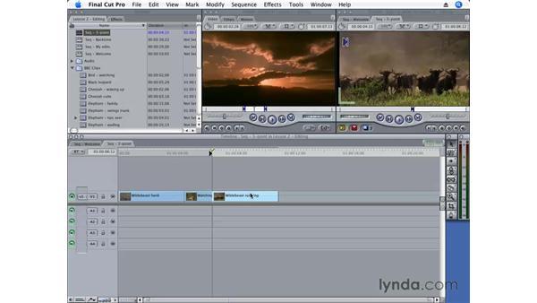 Three-Point editing: Final Cut Pro 6 Essential Editing