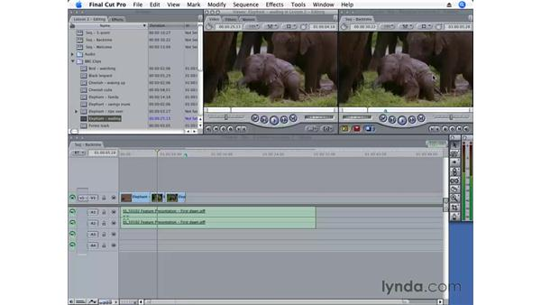 Replace editing: Final Cut Pro 6 Essential Editing