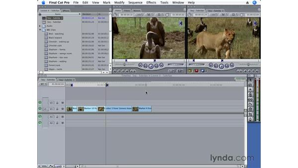 Editing with subclips: Final Cut Pro 6 Essential Editing
