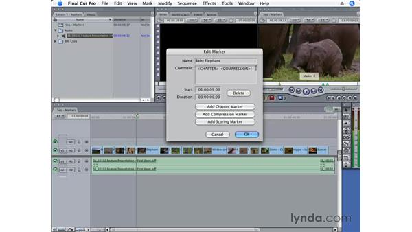 Using special markers: Final Cut Pro 6 Essential Editing