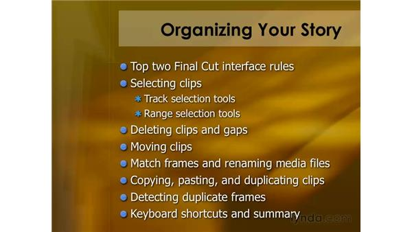 Top two Final Cut Pro interface rules: Final Cut Pro 6 Essential Editing