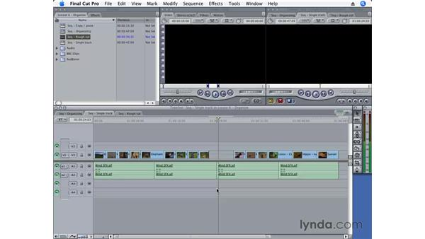 Deleting clips: Final Cut Pro 6 Essential Editing